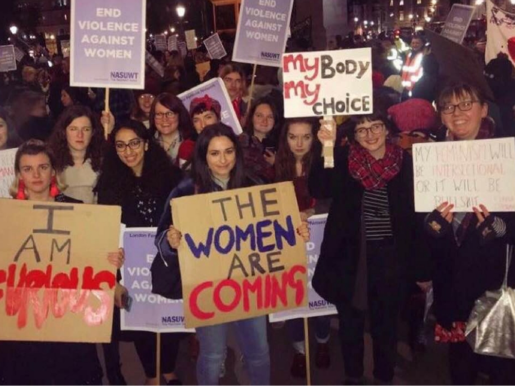 Canterbury students on Reclaim the Night march
